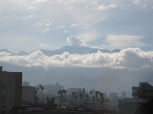 The best organic coffee brands come from the slopes of volcanoes like Nevado Ruiz which looms over Manizales, Colombia.